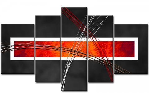 abstrakt leinwand 5 bilder modern art m50472 xxl die leinwandfabrik. Black Bedroom Furniture Sets. Home Design Ideas