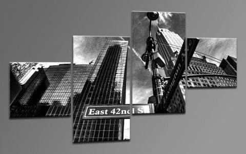 new york comic leinwand 4 bilder m42818 die leinwandfabrik. Black Bedroom Furniture Sets. Home Design Ideas