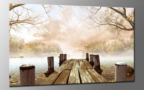 mystic forest leinwand bild auf keilrahmen a01618 die leinwandfabrik. Black Bedroom Furniture Sets. Home Design Ideas
