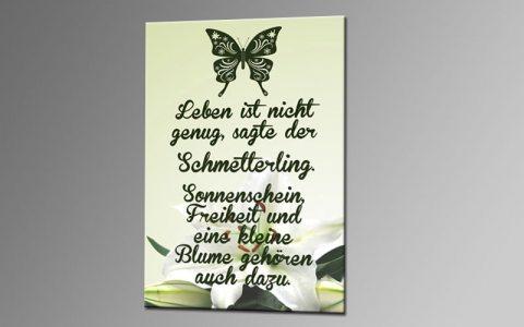 Leinwandbilder Mit Sprüchen : butterfly i wihite leinwand 60x40cm spr che deko ka00327 living die leinwandfabrik ~ Watch28wear.com Haus und Dekorationen