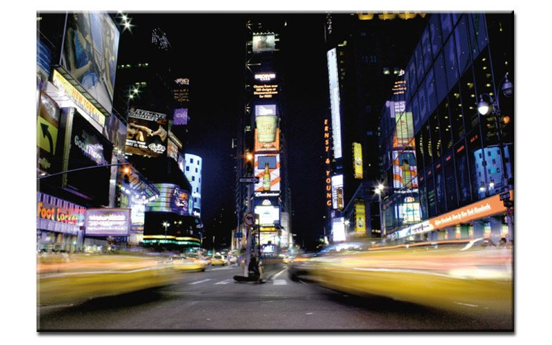 times square leinwand bild new york a00702 die leinwandfabrik. Black Bedroom Furniture Sets. Home Design Ideas
