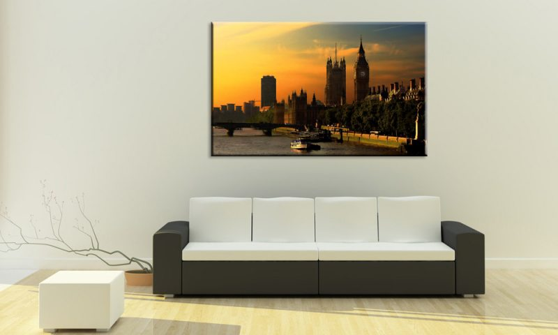 city scene leinwand bridge big ben a00508 london die leinwandfabrik. Black Bedroom Furniture Sets. Home Design Ideas