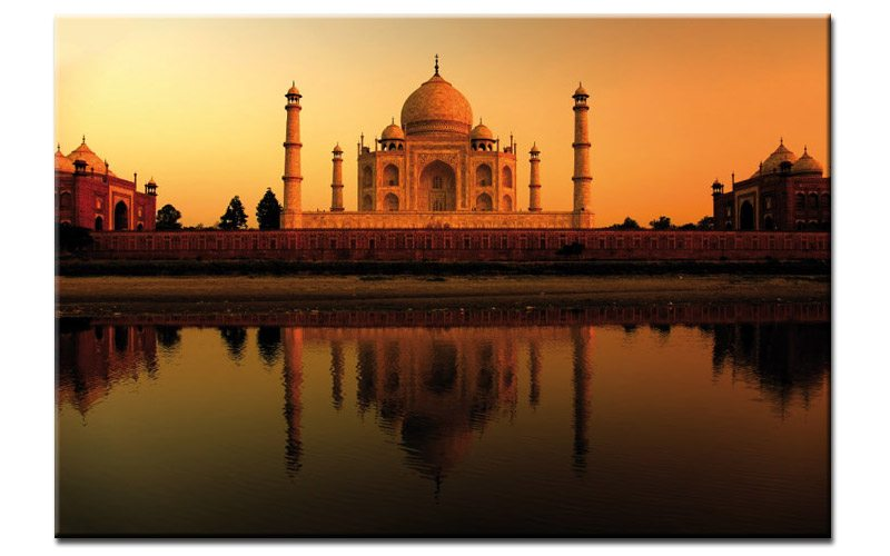 taj mahal palace leinwand orient indien a00557 die leinwandfabrik. Black Bedroom Furniture Sets. Home Design Ideas