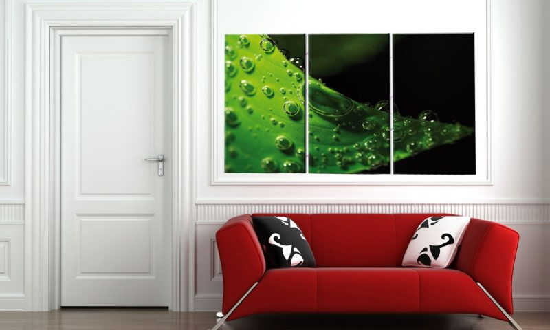 waterdrops leinwand 3 bilder feng shui wellness c00758 die leinwandfabrik. Black Bedroom Furniture Sets. Home Design Ideas