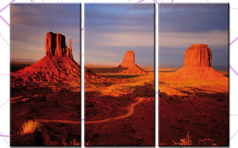 monument valley leinwand 3 bilder usa valley c00719 die leinwandfabrik. Black Bedroom Furniture Sets. Home Design Ideas