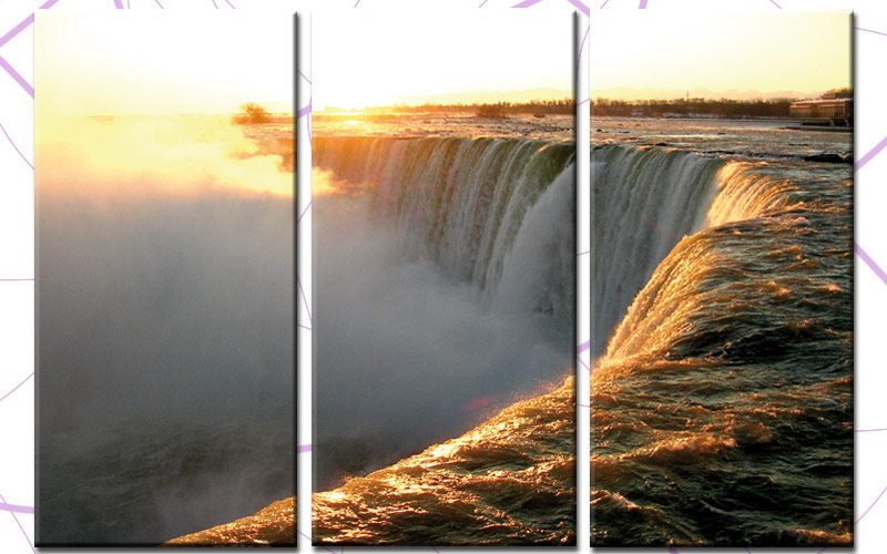 niagara falls leinwand 3 bilder usa wasserfall c00710 die leinwandfabrik. Black Bedroom Furniture Sets. Home Design Ideas