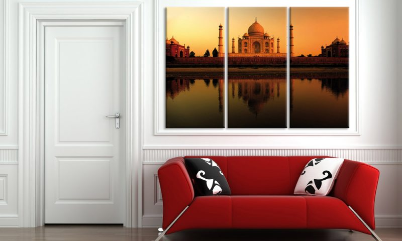 taj mahal leinwand 3 bilder indien taj mahal c00285 die leinwandfabrik. Black Bedroom Furniture Sets. Home Design Ideas