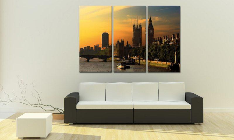 london leinwand 3 bilder big ben tower bridge c00254 die leinwandfabrik. Black Bedroom Furniture Sets. Home Design Ideas