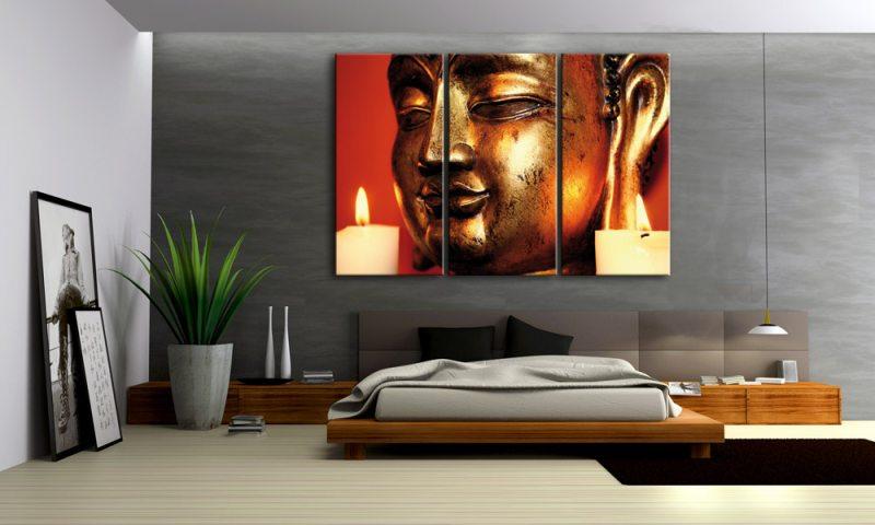 BUDDHA LEINWAND BILDER INDIEN BUDDHA RELIGION C Die - Wandbilder wohnzimmer gunstig