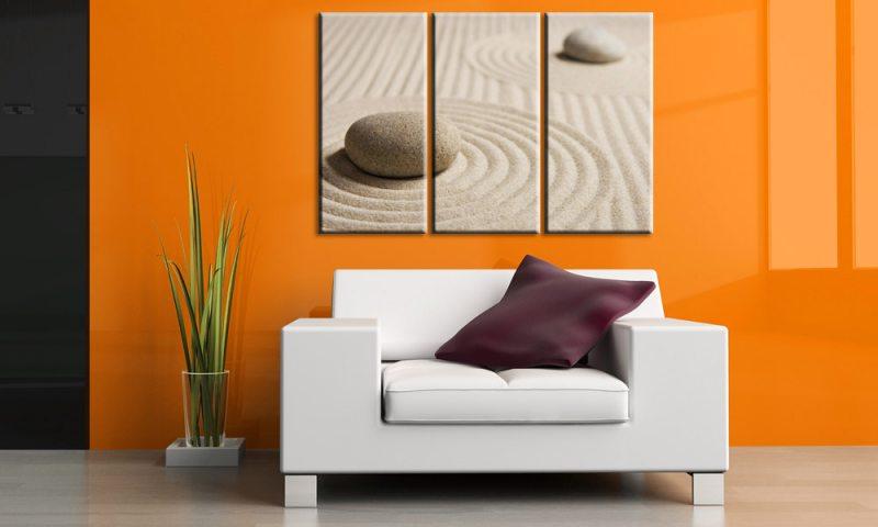 sand and stones leinwand 3 bilder feng shui zen c00220 die leinwandfabrik. Black Bedroom Furniture Sets. Home Design Ideas