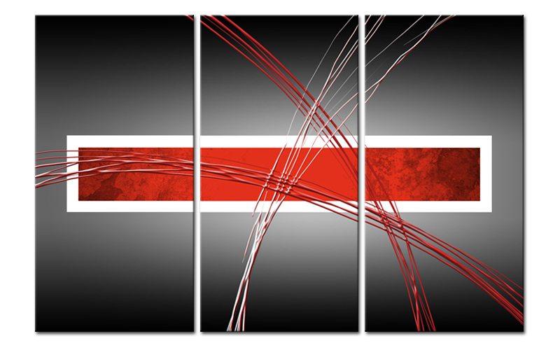 red wave leinwand 3 bilder modern art c00936 die. Black Bedroom Furniture Sets. Home Design Ideas