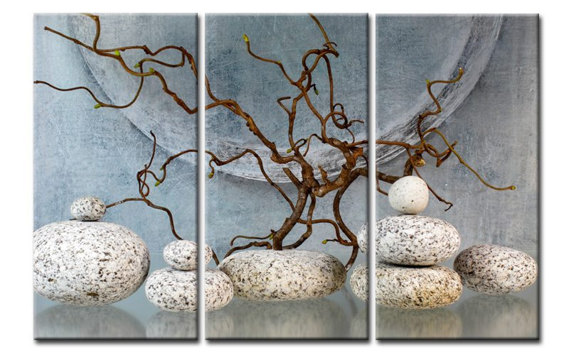 bonsai natur leinwand 3 bilder wellness feng shui c00970 die leinwandfabrik. Black Bedroom Furniture Sets. Home Design Ideas