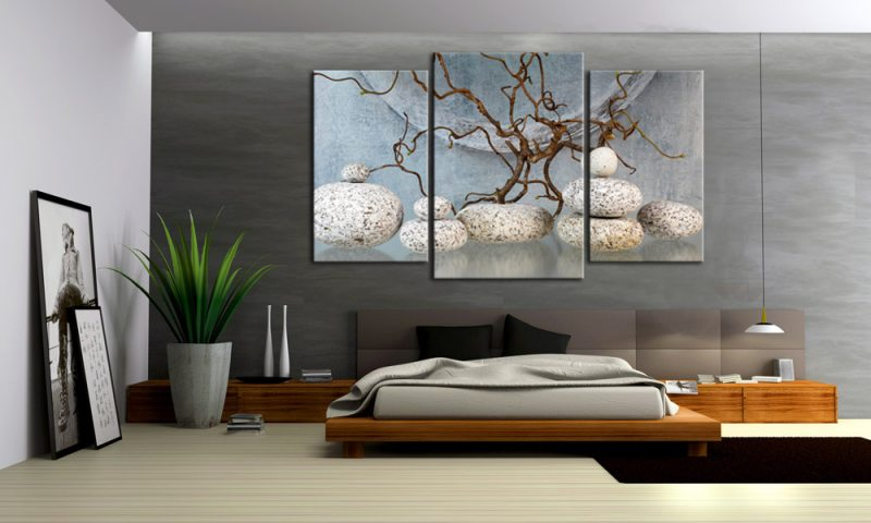 bonsai natur leinwand 3 bilder wellness m30589 die leinwandfabrik. Black Bedroom Furniture Sets. Home Design Ideas