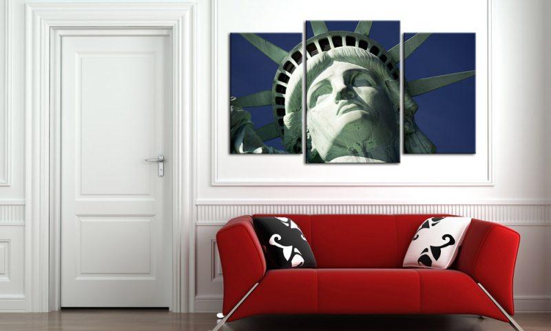 liberty usa leinwand 3 bilder new york m30592 die leinwandfabrik. Black Bedroom Furniture Sets. Home Design Ideas