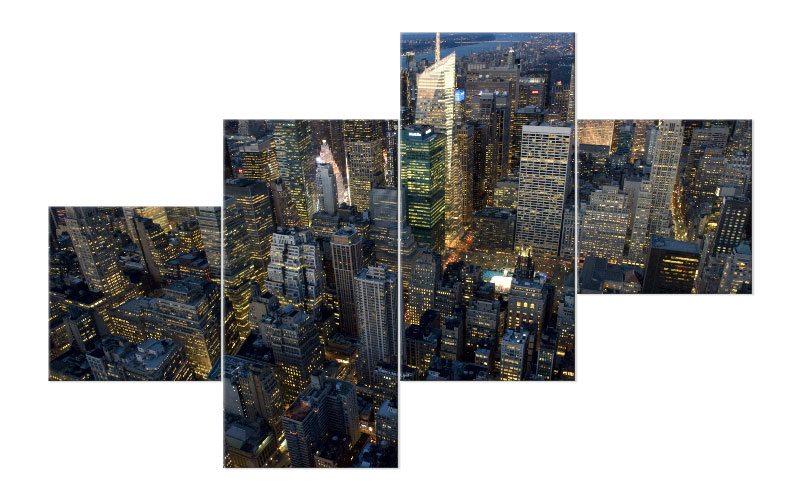 new york leinwand 4 bilder skyline m41052 xxl die. Black Bedroom Furniture Sets. Home Design Ideas
