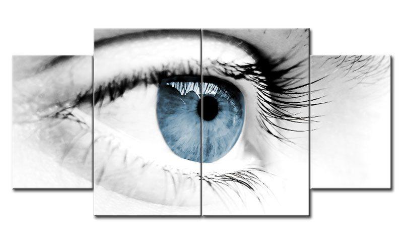 blue eye leinwand 4 bilder auge blau m40782 xl die leinwandfabrik. Black Bedroom Furniture Sets. Home Design Ideas
