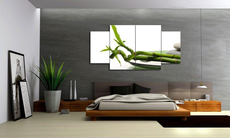 wellness bambus leinwand 4 bilder zen gr n m40792 xl die leinwandfabrik. Black Bedroom Furniture Sets. Home Design Ideas