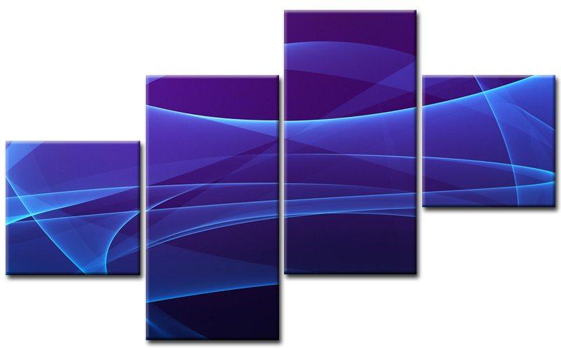 abstrakt blue leinwand 4 bilder modern m40637 g nstig xxl die leinwandfabrik. Black Bedroom Furniture Sets. Home Design Ideas