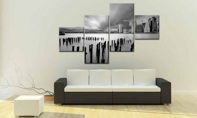 brooklyn usa leinwand 4 bilder new york m40647 g nstig xxl die leinwandfabrik. Black Bedroom Furniture Sets. Home Design Ideas