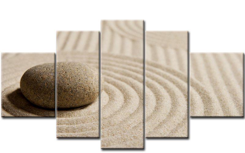 sand and stone 5 bilder leinwand steine feng shui m50445 die leinwandfabrik. Black Bedroom Furniture Sets. Home Design Ideas