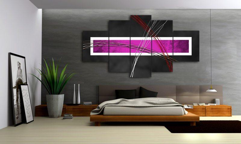 design wohnzimmer in grau und lila violet style 5 bilder leinwand abstrakt lila grau m50477