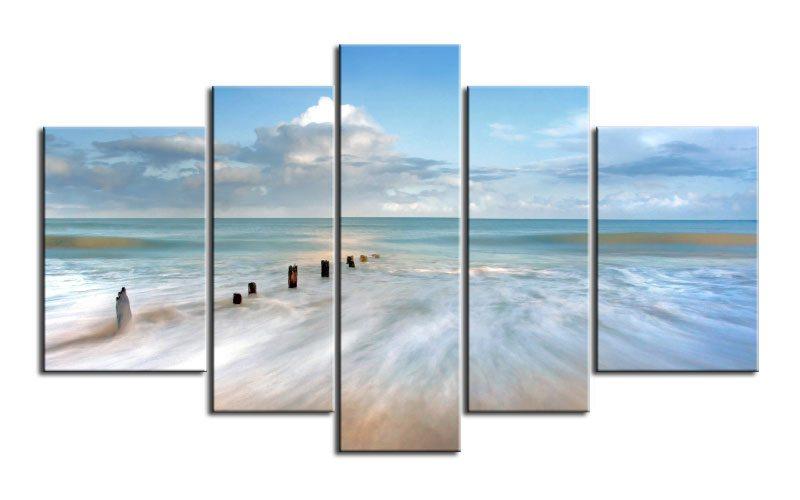 karibik coast leinwand 5 bilder sand beach m51183 xxl. Black Bedroom Furniture Sets. Home Design Ideas