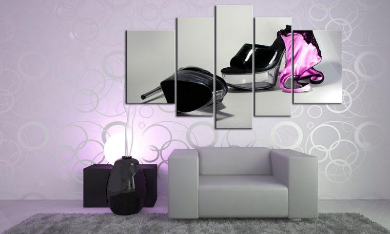Xxl Leinwandbilder Gunstig ~ Pink slip leinwand bilder high heels m xxl die leinwandfabrik