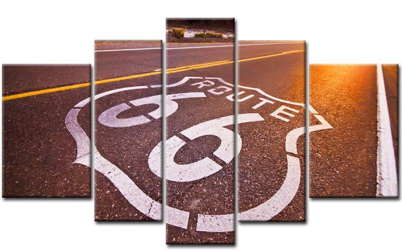 route 66 leinwand 5 bilder usa roadtrip m50346 xxl die leinwandfabrik. Black Bedroom Furniture Sets. Home Design Ideas