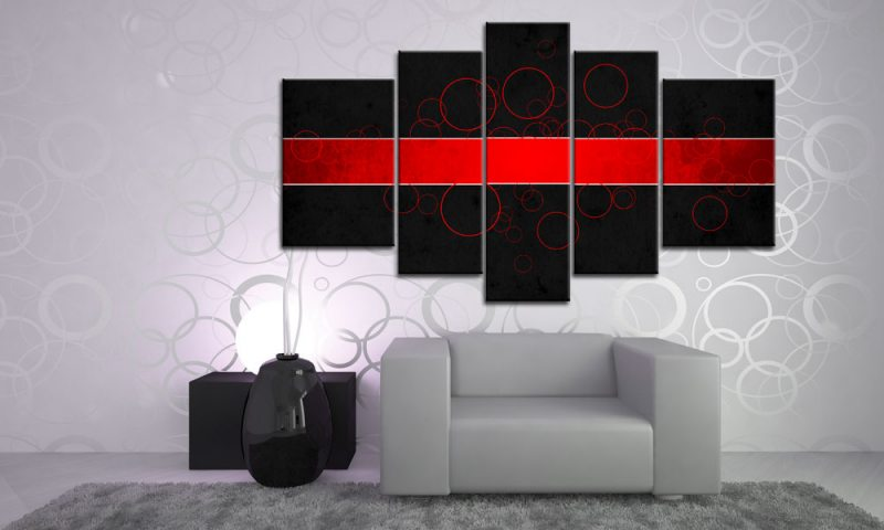 cool bubble art leinwand xxl 5 bilder m51535 abstrakt die leinwandfabrik. Black Bedroom Furniture Sets. Home Design Ideas