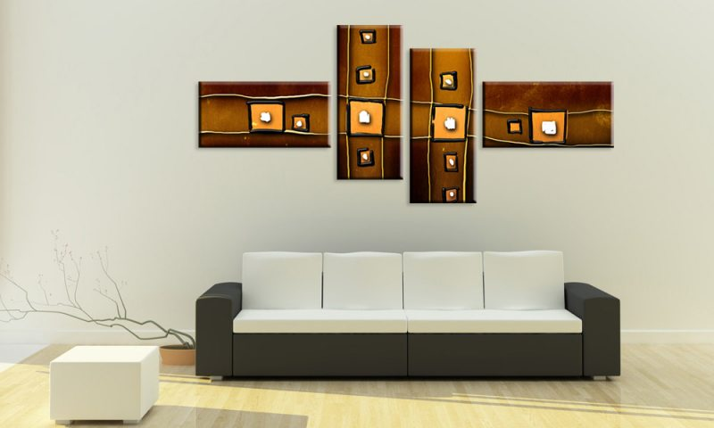 abstrakt modern leinwand 4 bilder living m40102 style die leinwandfabrik. Black Bedroom Furniture Sets. Home Design Ideas