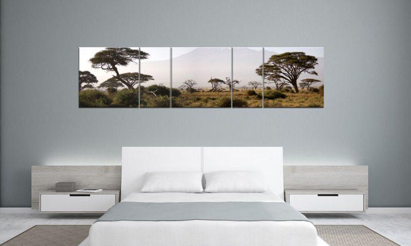 SAVANNE AFRICA SAFARI Panorama 5 BILDER P500054 XXL LEINWAND - Die ...
