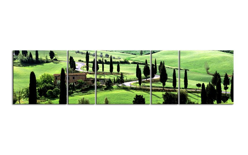 toscana landscape italy panorama 5 bilder p500061 xxl leinwand die leinwandfabrik. Black Bedroom Furniture Sets. Home Design Ideas