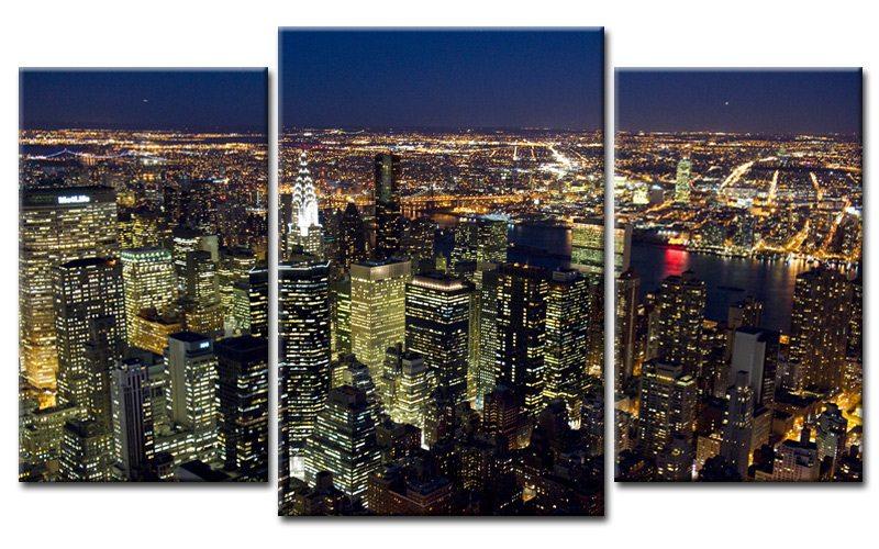 new york hdr leinwand 3 bilder black mxl30591 die leinwandfabrik. Black Bedroom Furniture Sets. Home Design Ideas