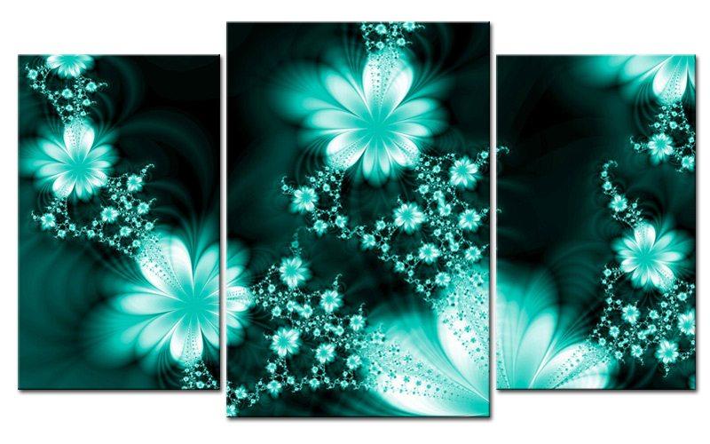 Fototapete Jugendzimmer Türkis : T?rkis style leinwand bilder flowers m die leinwandfabrik