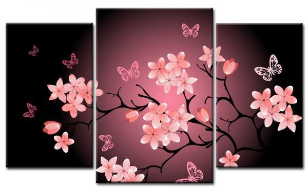 cherry blossom leinwand 3 bilder asia m30685 die leinwandfabrik. Black Bedroom Furniture Sets. Home Design Ideas