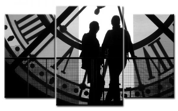 Bild Mehrteilig Lila : Time in Paris Leinwandbild Mehrteilig  Die Leinwandfabrik