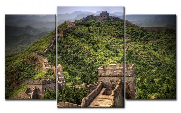 Bild Mehrteilig Lila : Chinese Wall Leinwandbild Mehrteilig  Die Leinwandfabrik