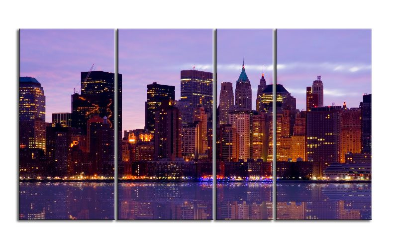 new york hudson river leinwand 4 bilder xxl bild d00718 die leinwandfabrik. Black Bedroom Furniture Sets. Home Design Ideas