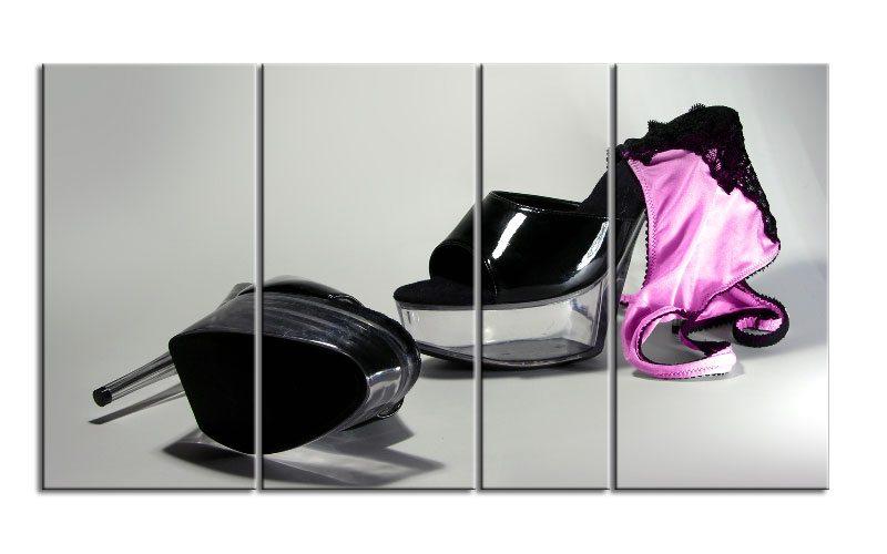 High heels panty leinwand 4 bilder xxl bild d00719 die for Glasbilder modern art