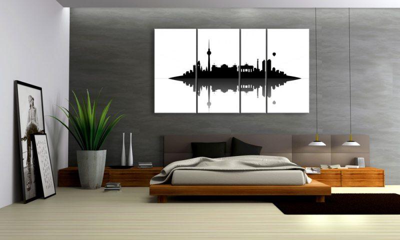 berlin skyline leinwand 4 bilder xxl bild d00739 die leinwandfabrik. Black Bedroom Furniture Sets. Home Design Ideas