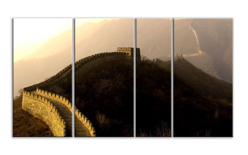 chinesische mauer leinwand 4 bilder xxl bild d00800 die leinwandfabrik. Black Bedroom Furniture Sets. Home Design Ideas