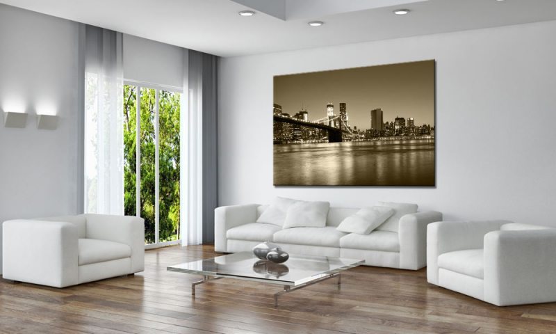 brooklyn sepia leinwand bild auf keilrahmen a01622 die. Black Bedroom Furniture Sets. Home Design Ideas