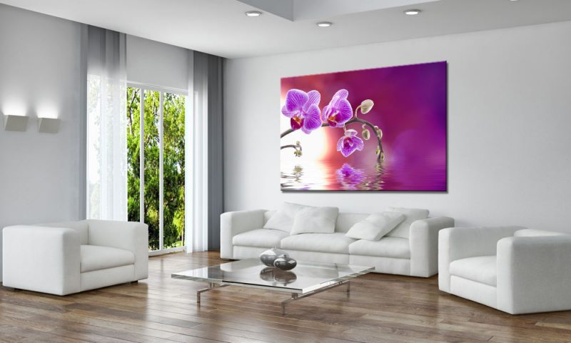 orchidee art leinwand bild auf keilrahmen a01639 die leinwandfabrik. Black Bedroom Furniture Sets. Home Design Ideas
