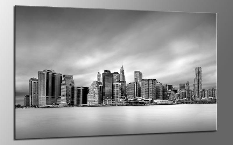New York Leinwandbild ~ Grey ny city leinwand bild auf keilrahmen a01679 die leinwandfabrik