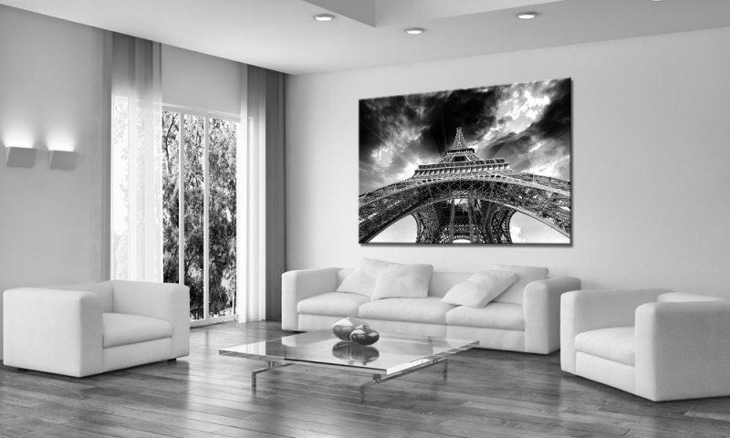paris comic leinwand bild auf keilrahmen a01712 die leinwandfabrik. Black Bedroom Furniture Sets. Home Design Ideas