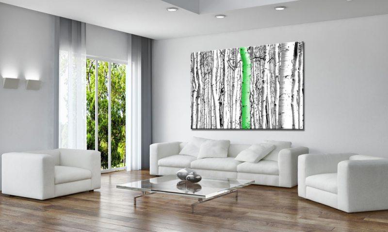forest green leinwand bild auf keilrahmen a01728 die. Black Bedroom Furniture Sets. Home Design Ideas