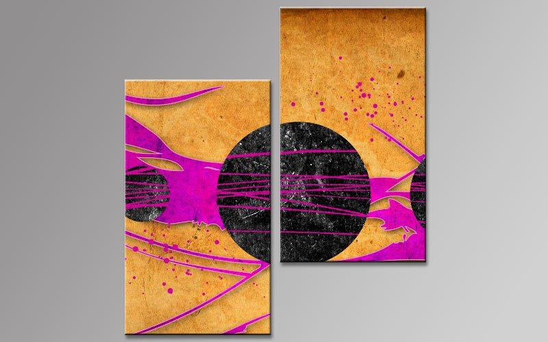 pop art planeten leinwand 2 bilder b00738 die leinwandfabrik. Black Bedroom Furniture Sets. Home Design Ideas