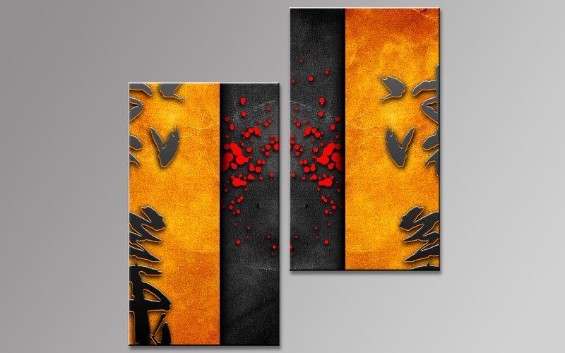 Asiatische Bilder Auf Leinwand symbole asien leinwand 2 bilder b00778 die leinwandfabrik