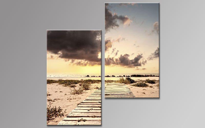 sandstrand sylt leinwand 2 bilder b00851 die leinwandfabrik. Black Bedroom Furniture Sets. Home Design Ideas