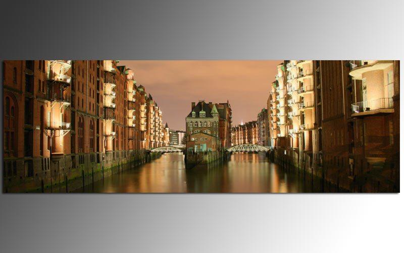 acryl dekoglas ag39000533 bild speicherstadt 90x30cm die leinwandfabrik. Black Bedroom Furniture Sets. Home Design Ideas